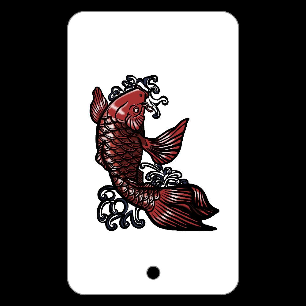 鯉の滝登り 赤 フラットパスケース