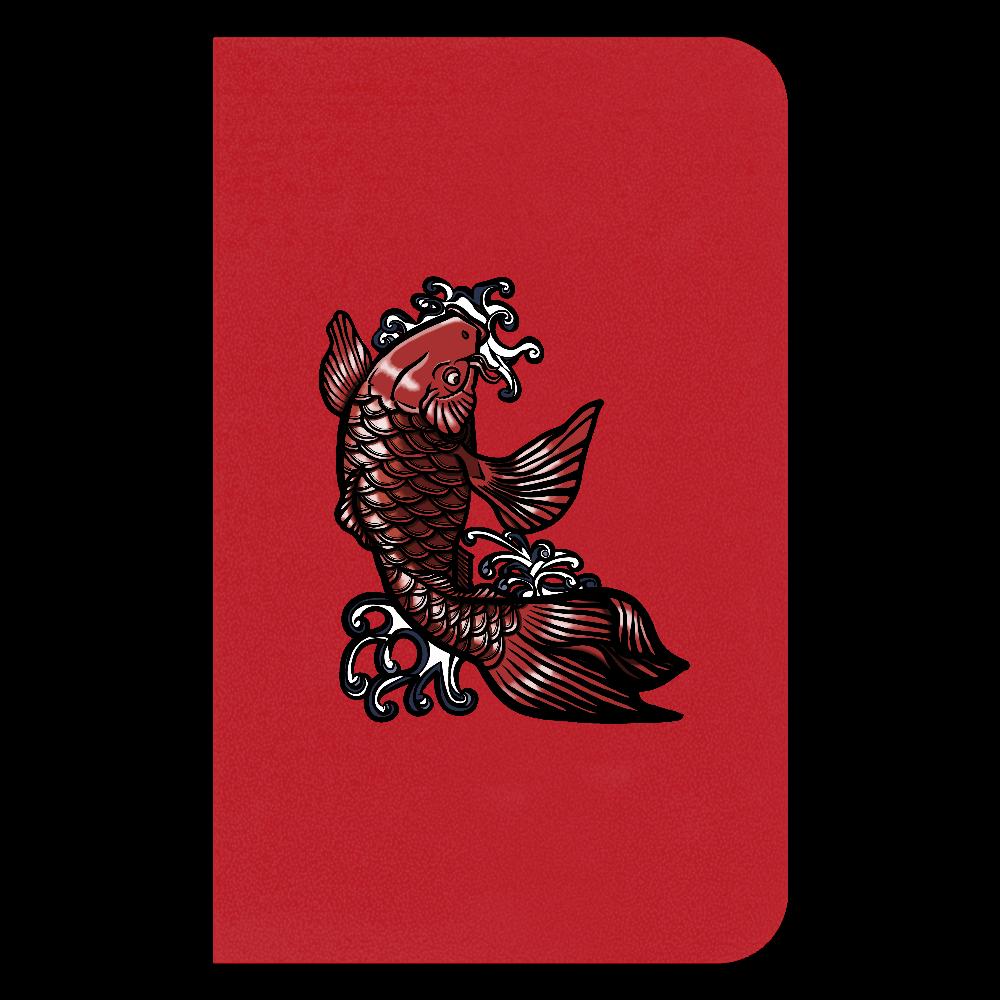 鯉の滝登り 赤 ハードカバーミニノート(罫線)