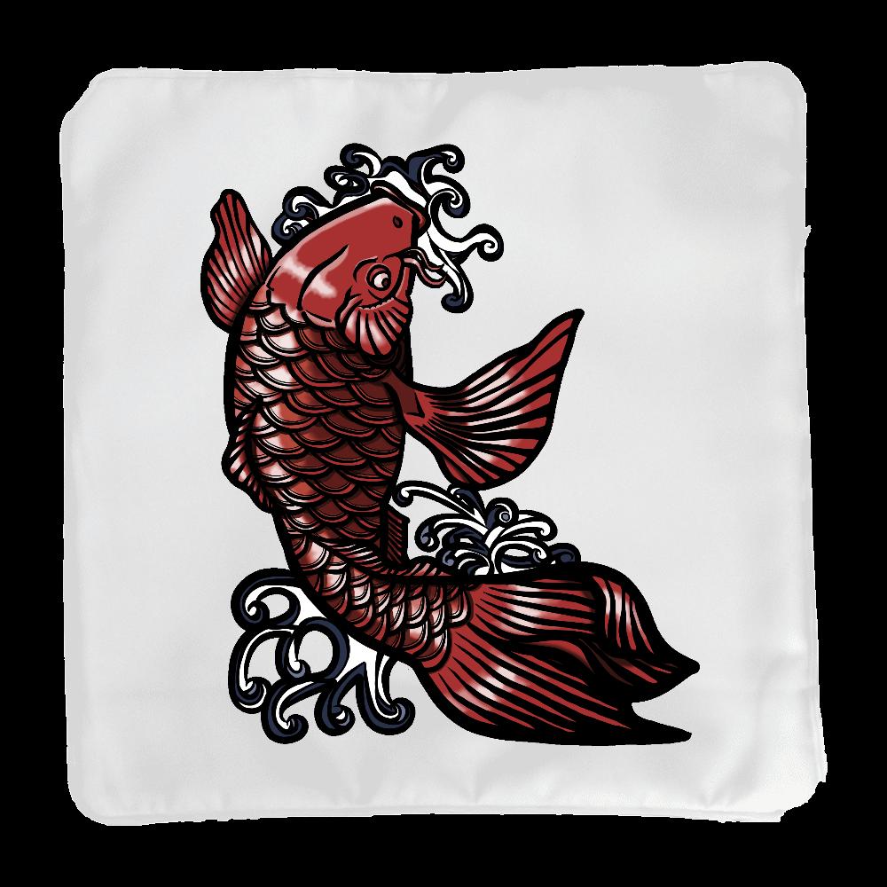 鯉の滝登り 赤 クッション(小)