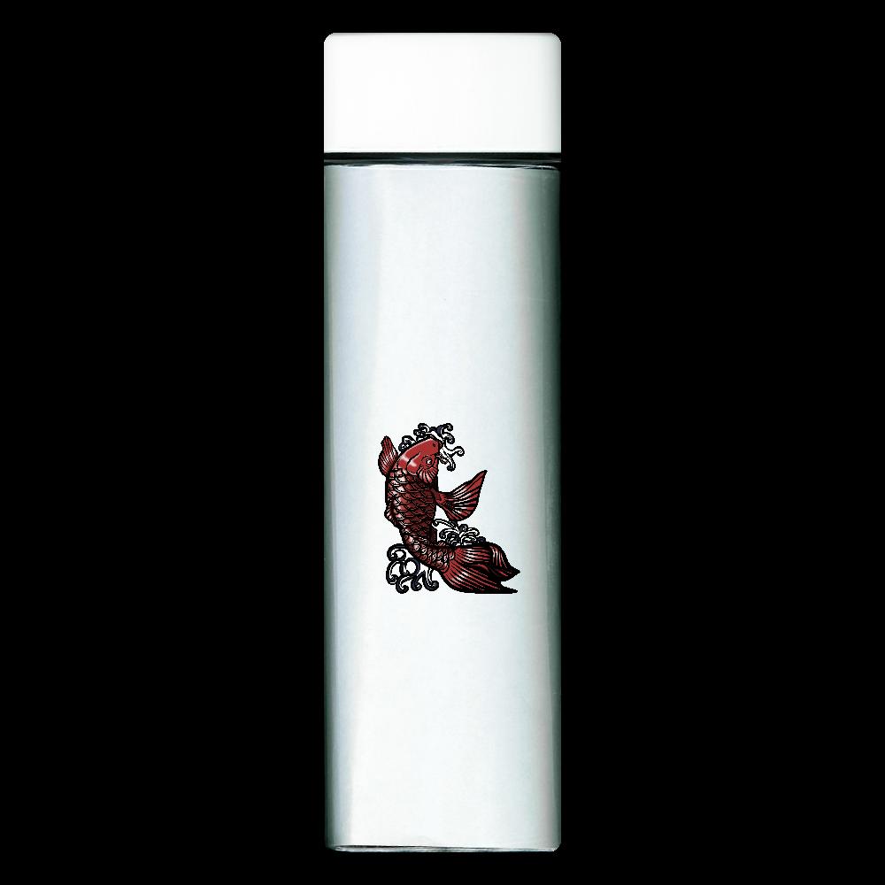 鯉の滝登り 赤 スクエアクリアボトル
