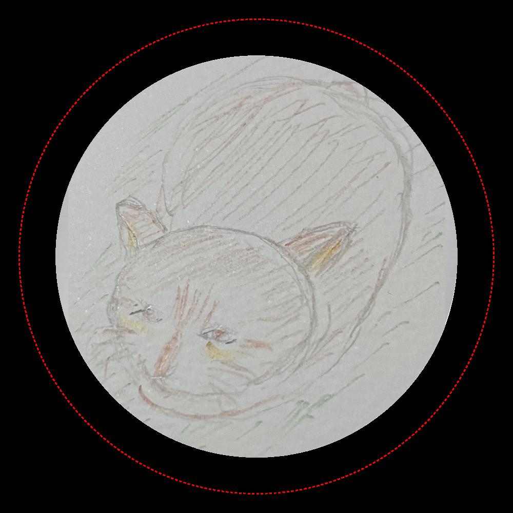 とある日の猫① イラスト オリジナル缶バッジ(44mm)