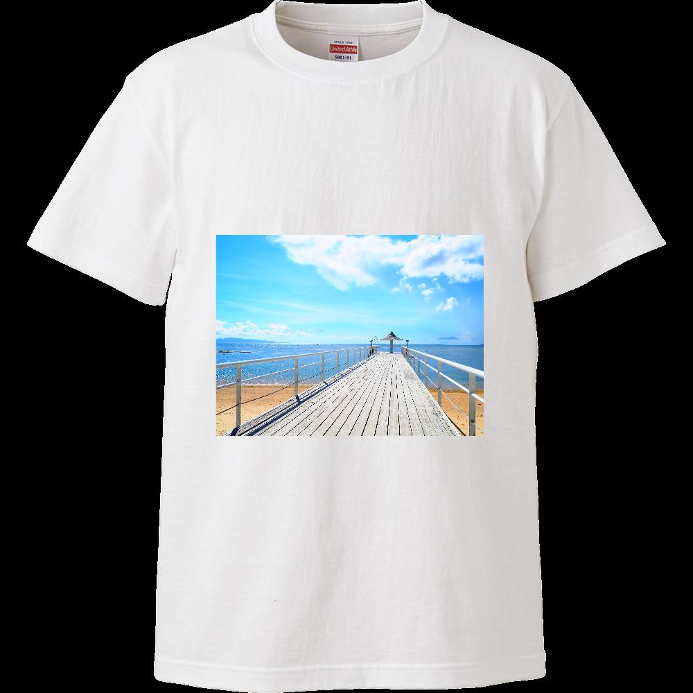 Blue Summer ハイクオリティーTシャツ