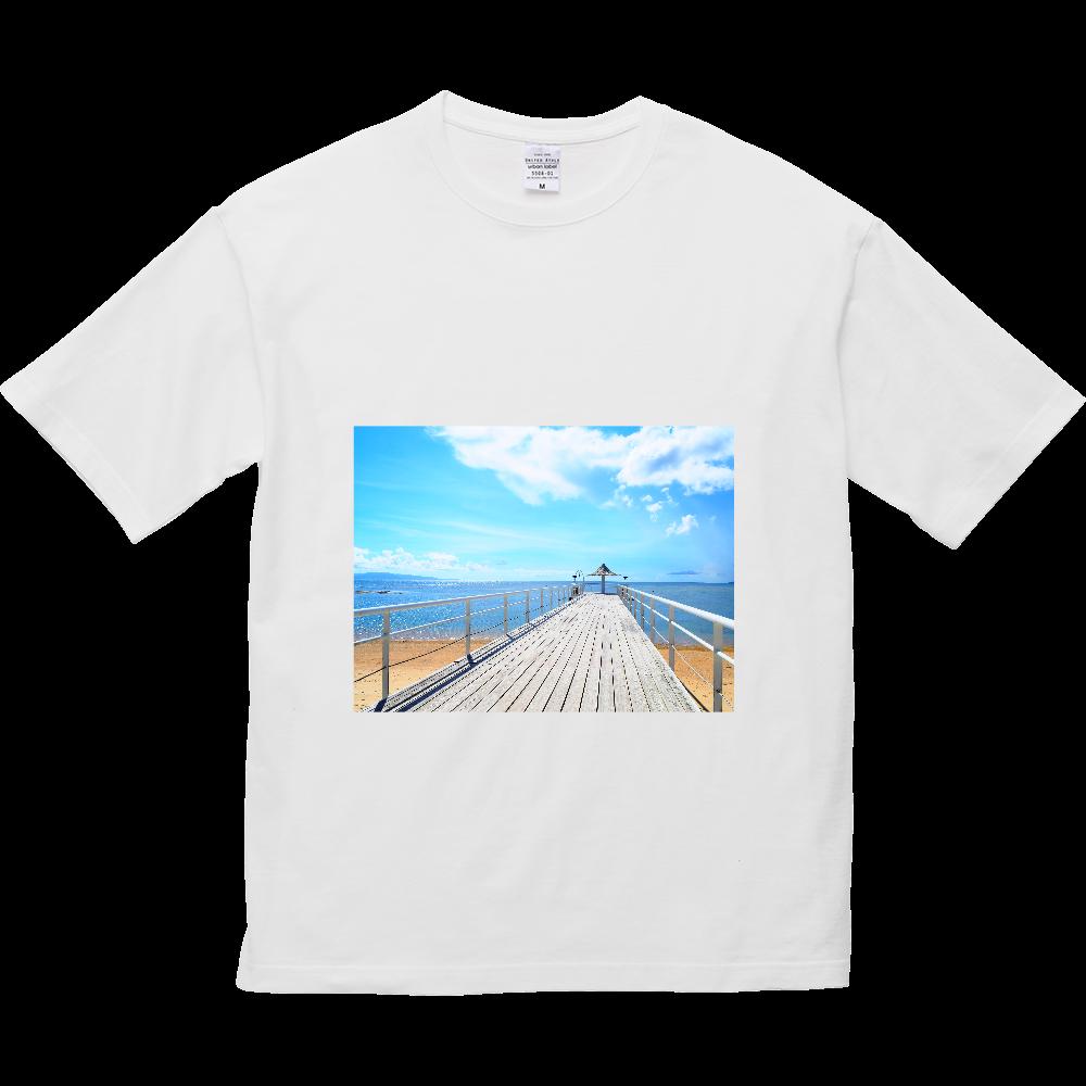 Blue Summer 5.6オンス ビッグシルエット Tシャツ