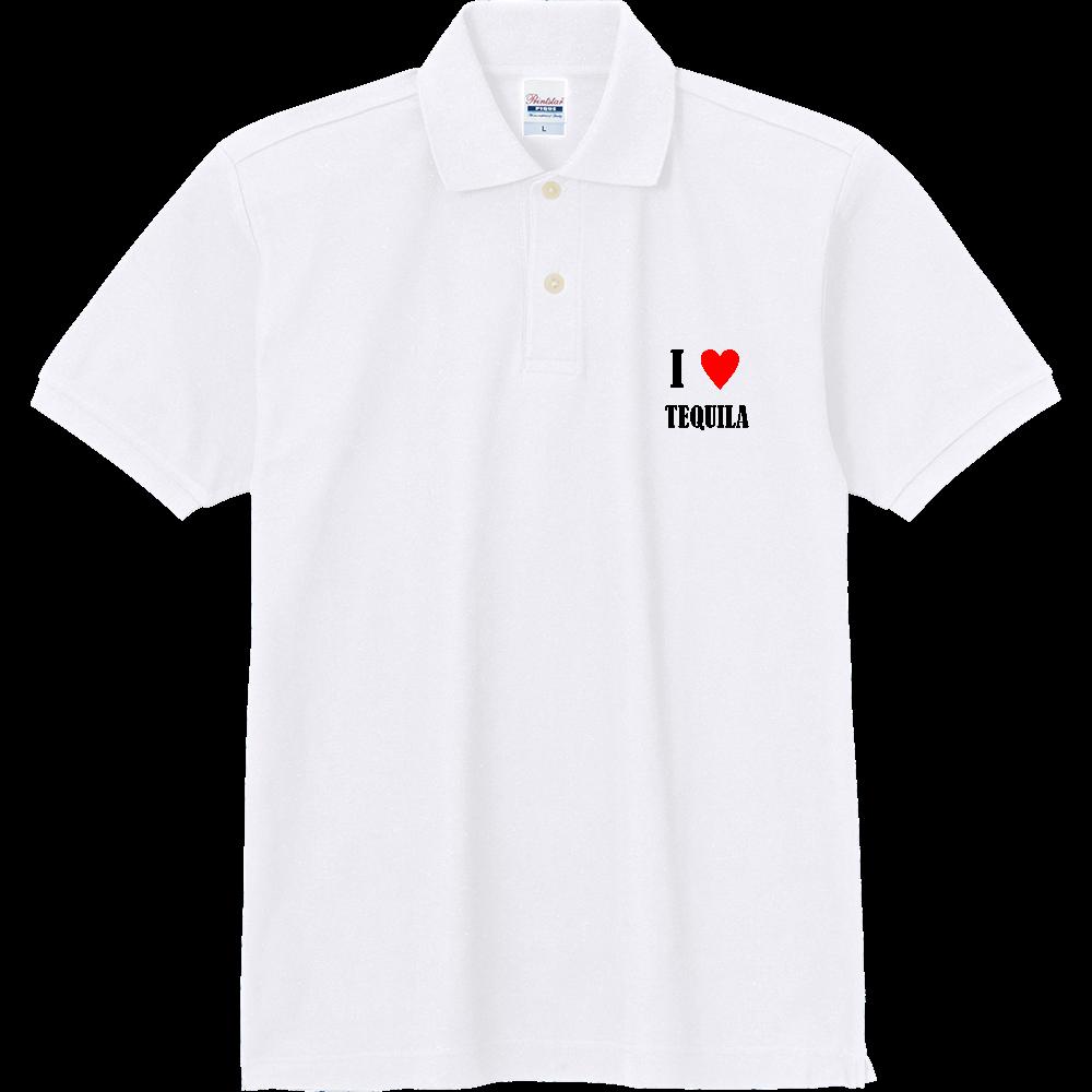 【お酒大好きシリーズ】I ♥ テキーラ 定番ポロシャツ