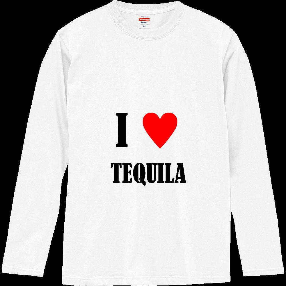 【お酒大好きシリーズ】I ♥ テキーラ ロングスリーブTシャツ