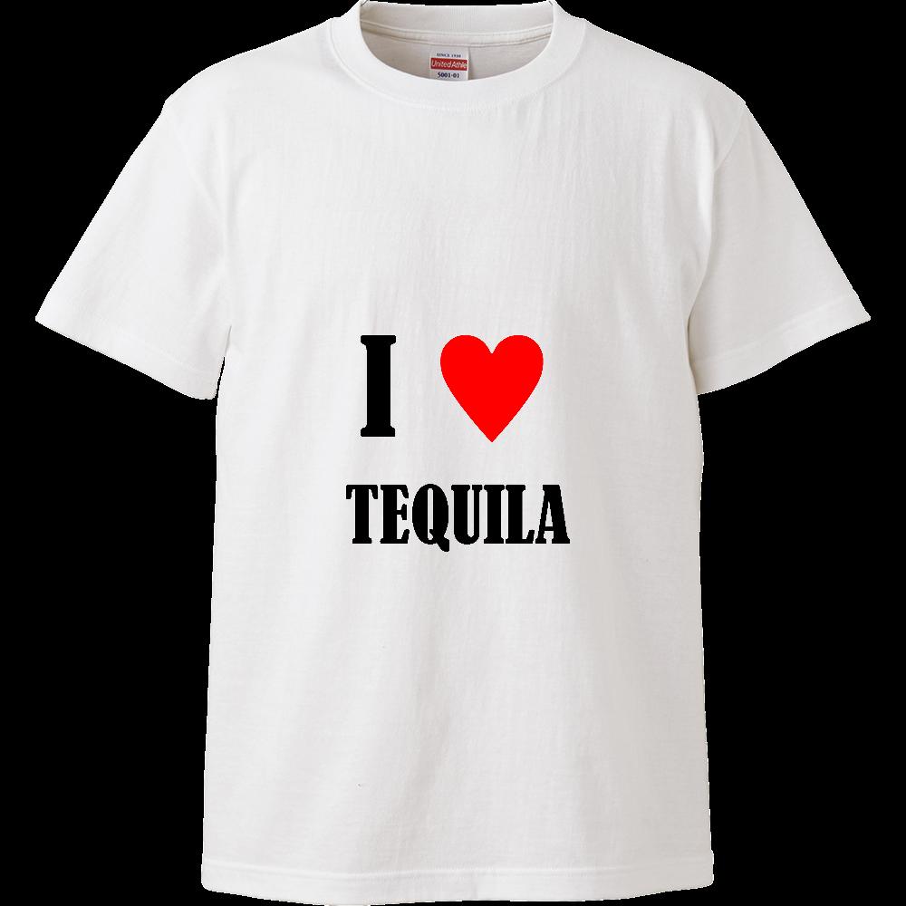 【お酒大好きシリーズ】I ♥ テキーラ ハイクオリティーTシャツ