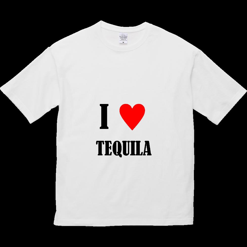 【お酒大好きシリーズ】I ♥ テキーラ 5.6オンス ビッグシルエット Tシャツ