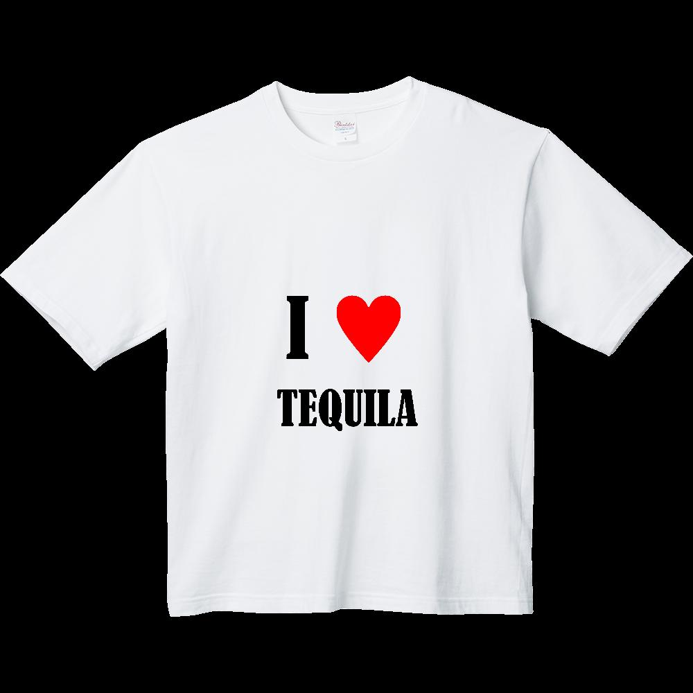 【お酒大好きシリーズ】I ♥ テキーラ ヘビーウェイト ビッグシルエットTシャツ