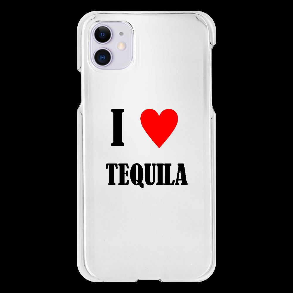 【お酒大好きシリーズ】I ♥ テキーラ iPhone11(透明)