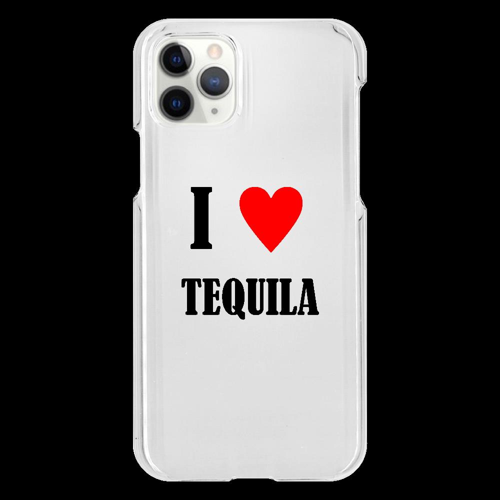 【お酒大好きシリーズ】I ♥ テキーラ iPhone11 Pro(透明)