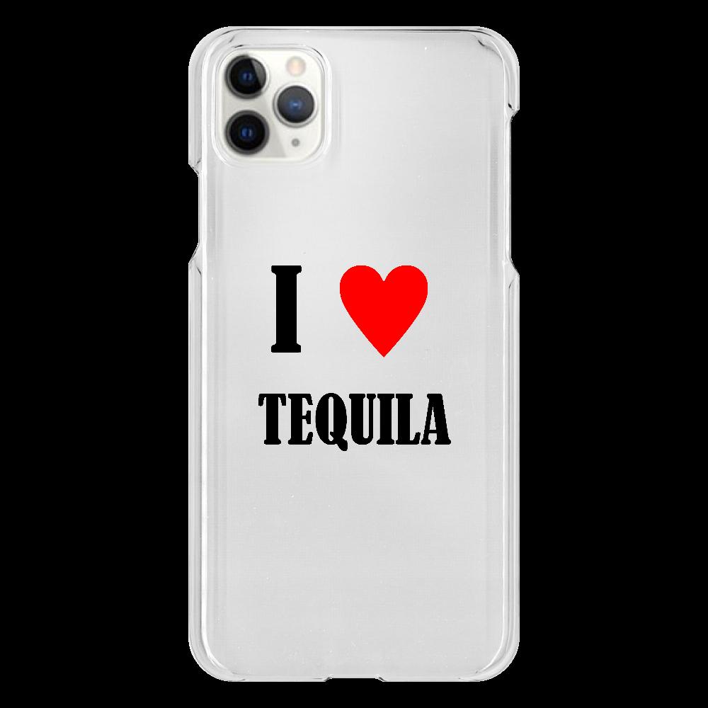 【お酒大好きシリーズ】I ♥ テキーラ iPhone 11 ProMax(透明)