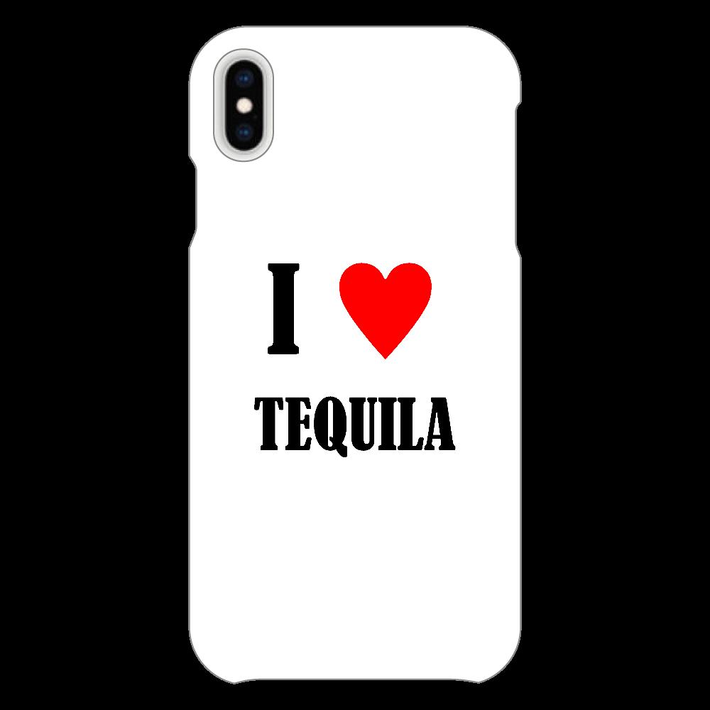 【お酒大好きシリーズ】I ♥ テキーラ iPhoneXsMAX(透明)