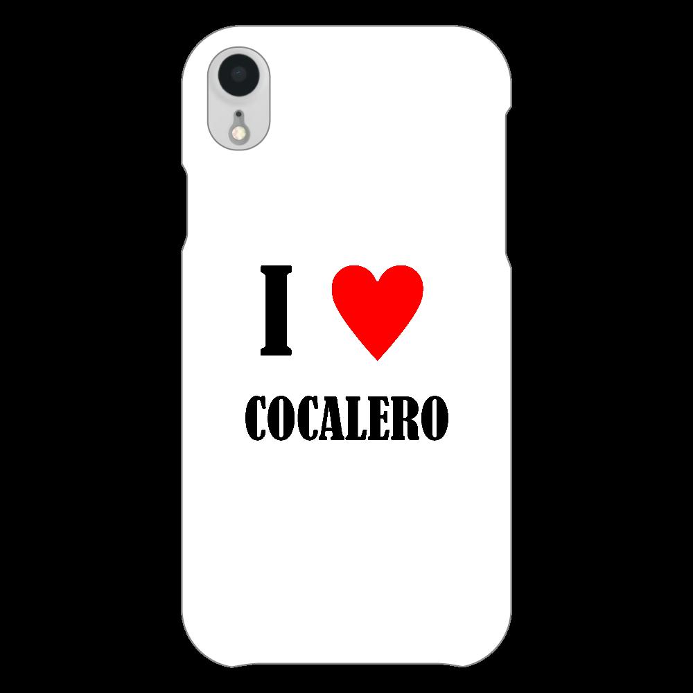 【お酒大好きシリーズ】I ♥ コカレロ iPhoneXR(透明)