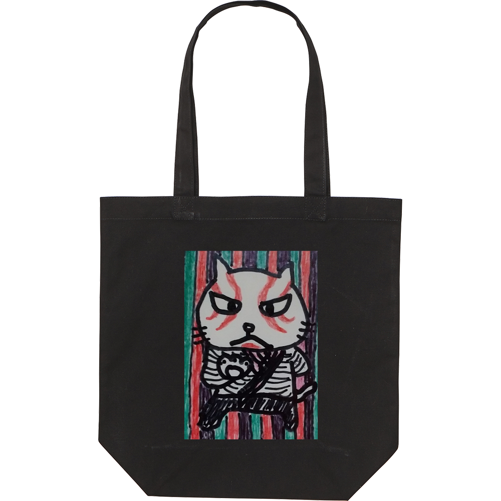 歌舞伎猫 スタンダードキャンバストートバッグ(M)