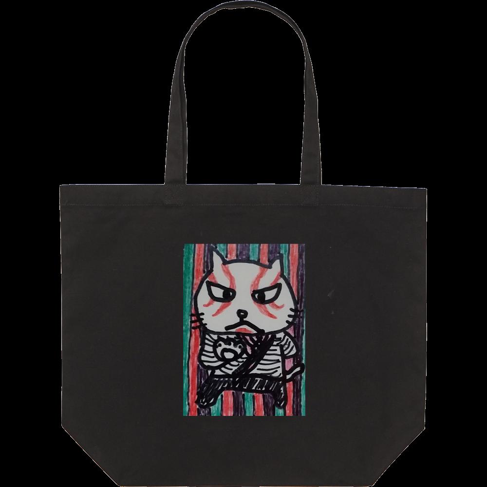 歌舞伎猫 スタンダードキャンバストートバッグ(L)