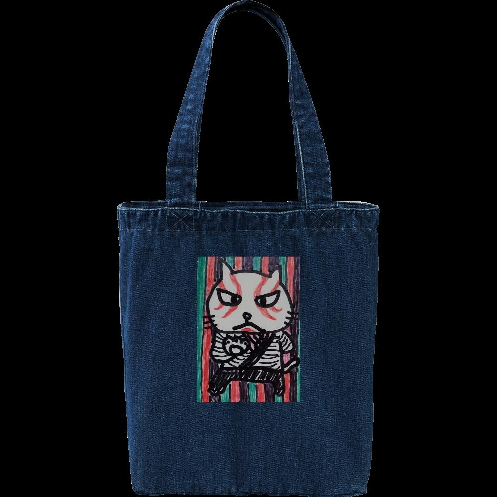 歌舞伎猫 デニム トートバッグ
