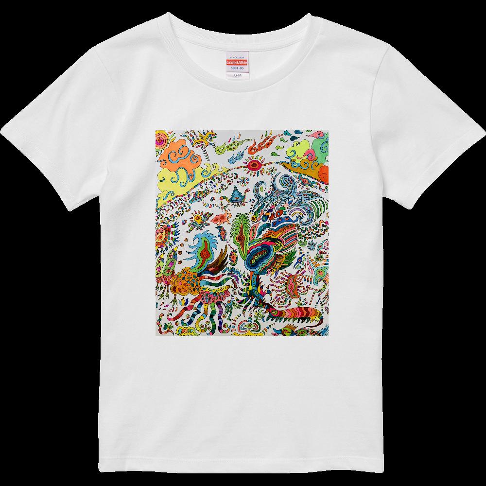 不思議な世界 ハイクオリティーTシャツ(ガールズ)