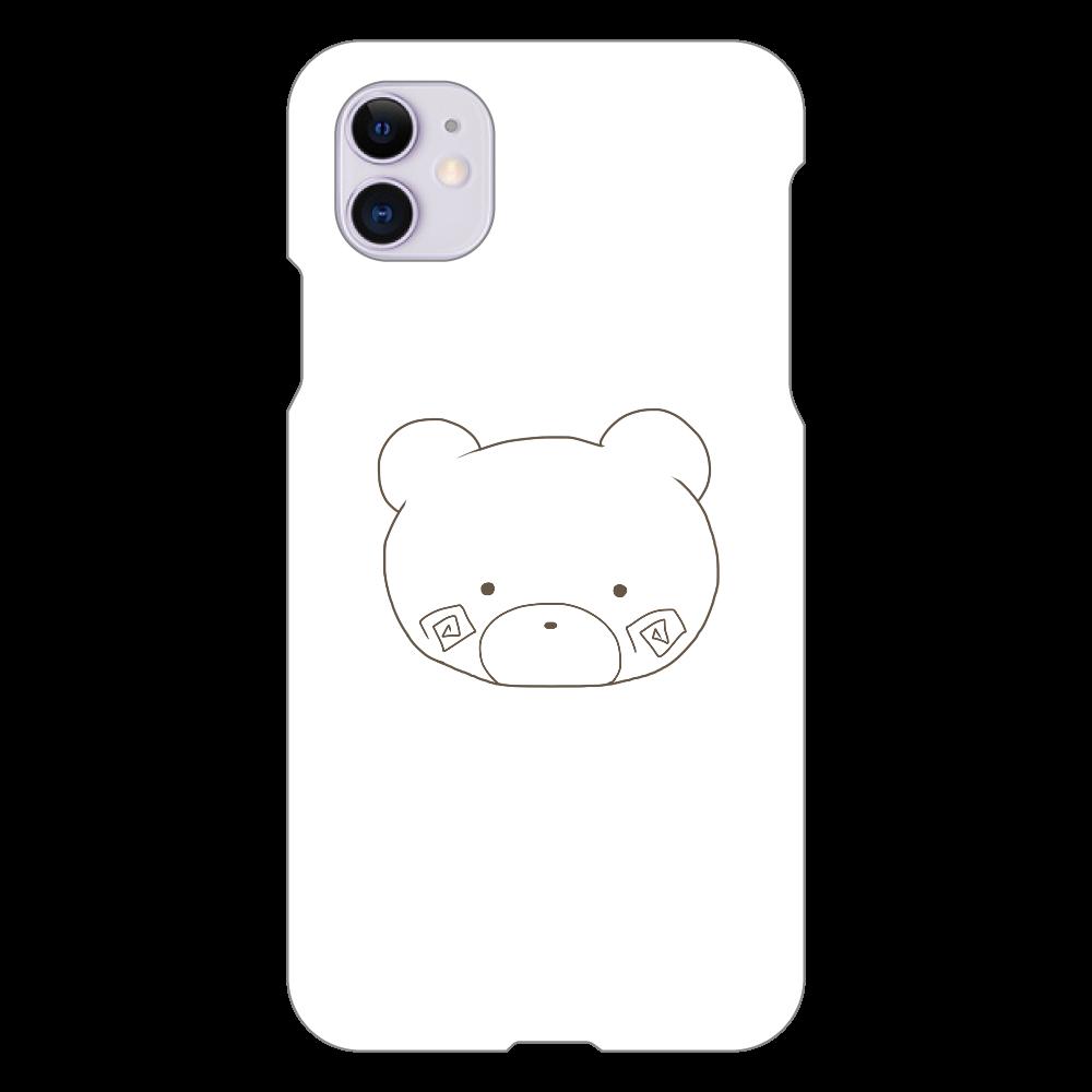 くまのすけ(色無し) iPhone 11(白)
