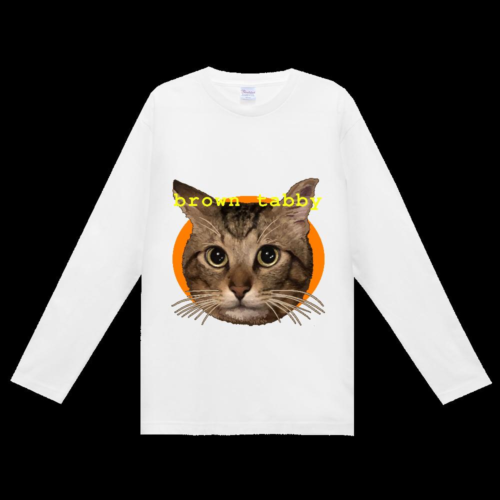 キジトラ大好き ヘビーウェイト長袖Tシャツ