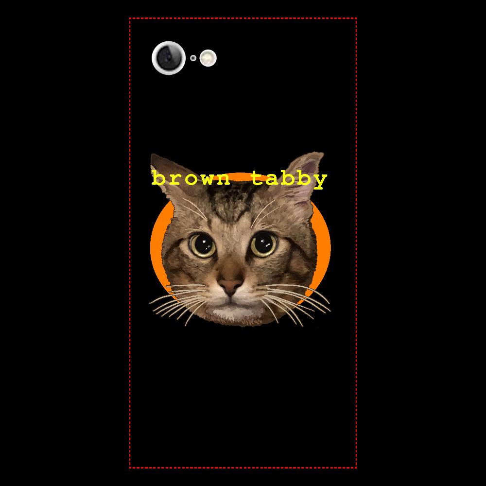 キジトラ大好き iPhone7 背面強化ガラス(スクエア)