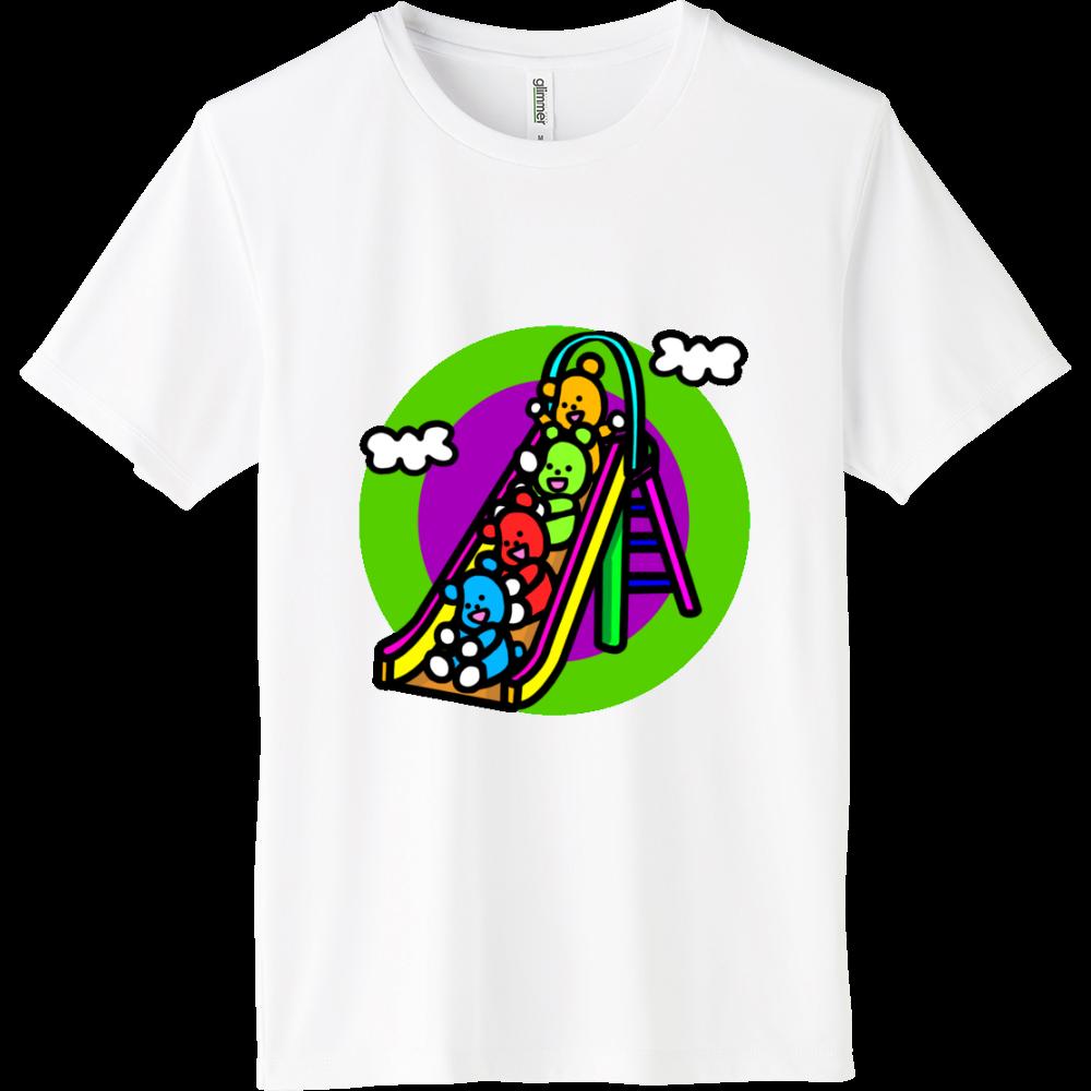 くまの遊び インターロックドライTシャツ