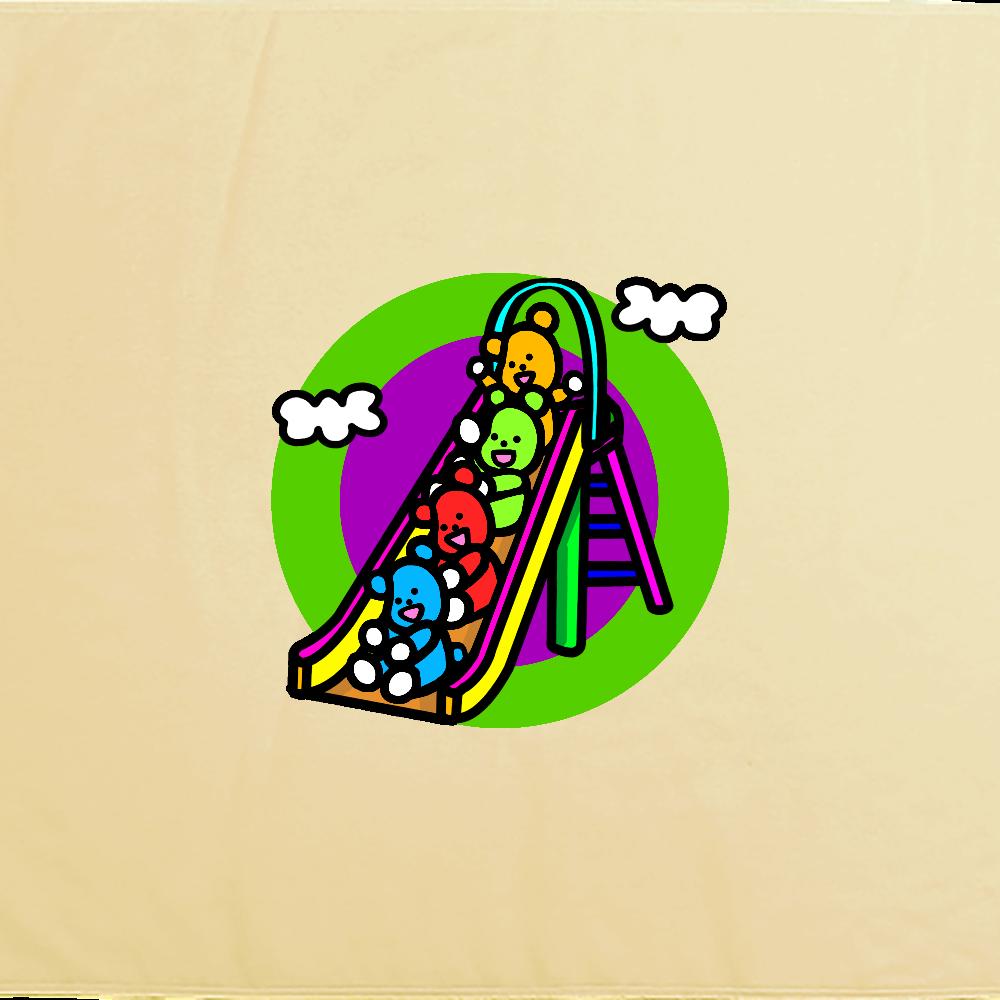 くまの遊び シャーリングバスタオル