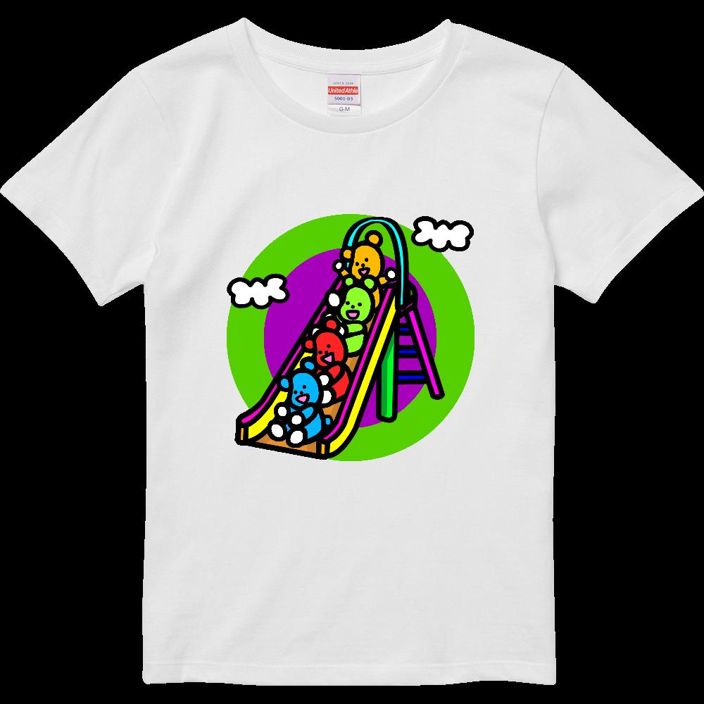 くまの遊び ハイクオリティーTシャツ(ガールズ)