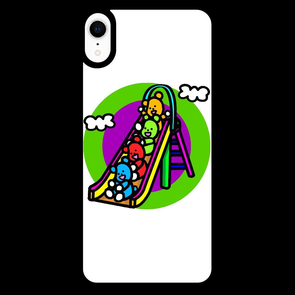 くまの遊び iPhoneXR_プリントパネルラバーケース