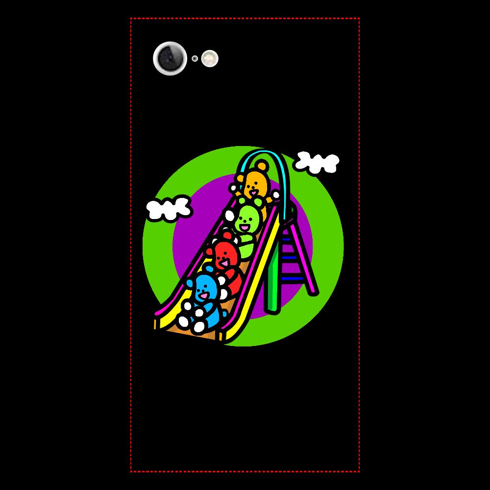 くまの遊び iPhone7 背面強化ガラス(スクエア)