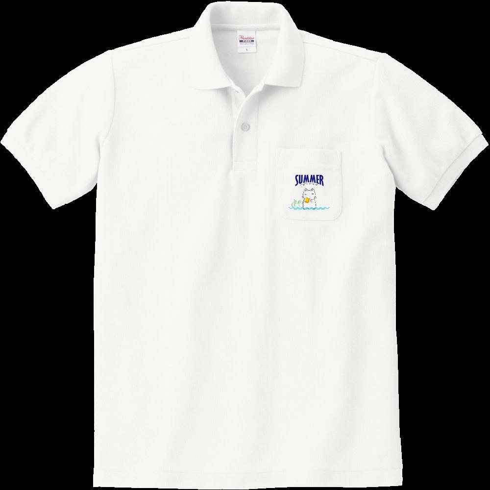 鬱にゃん(夏)ポロシャツ 定番ポロシャツ(ポケット付き)