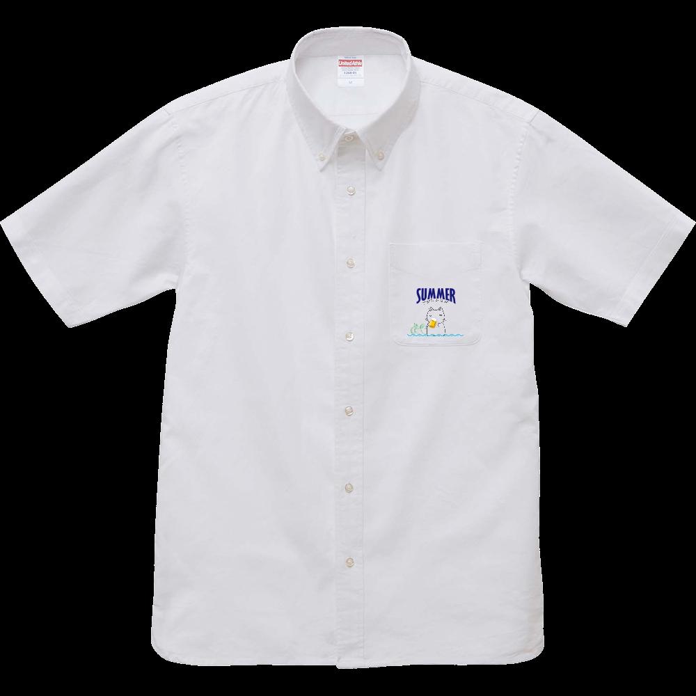 鬱にゃん(夏)シャツ オックスフォードボタンダウンショートスリーブシャツ
