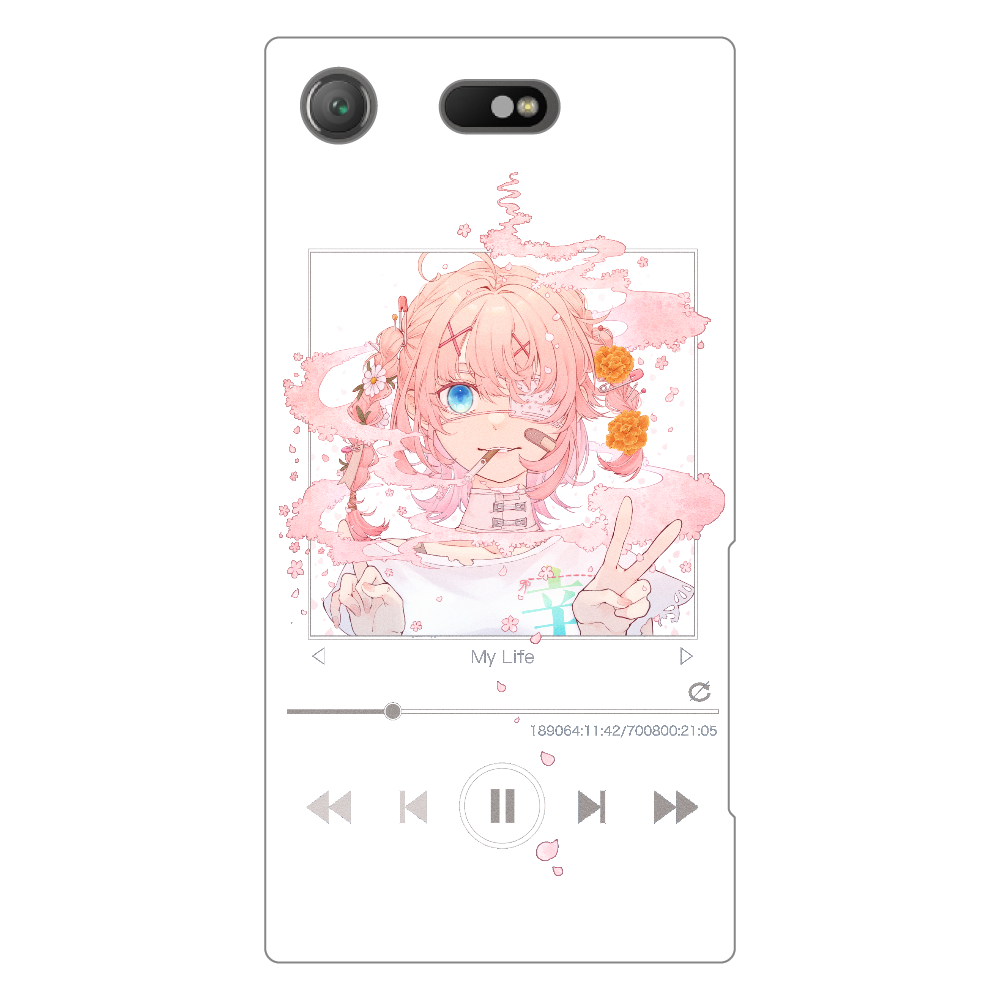 Androidスマホケース(対応機種多数) Xperia XZ1 Compact (SO-02K)(白)