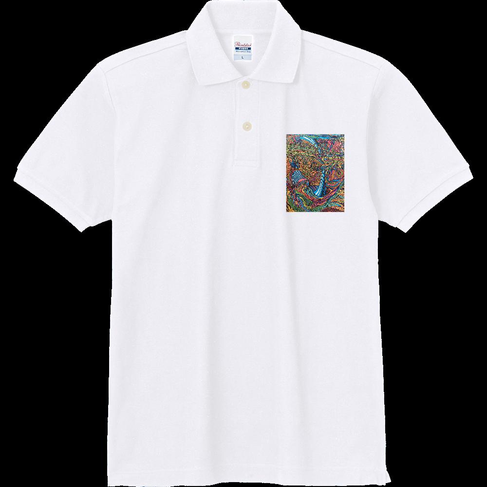 海 カラー 定番ポロシャツ
