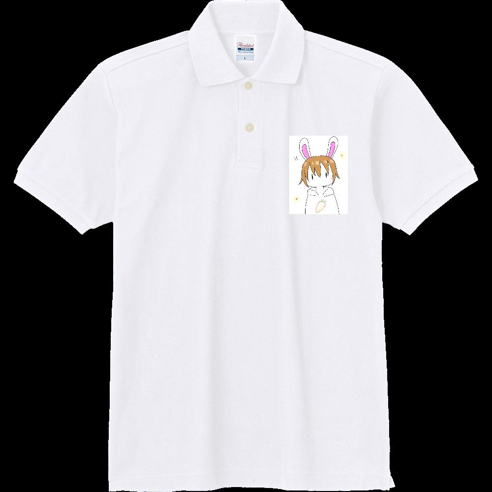 ゆるゆるうさぎ人間シリーズ 定番ポロシャツ