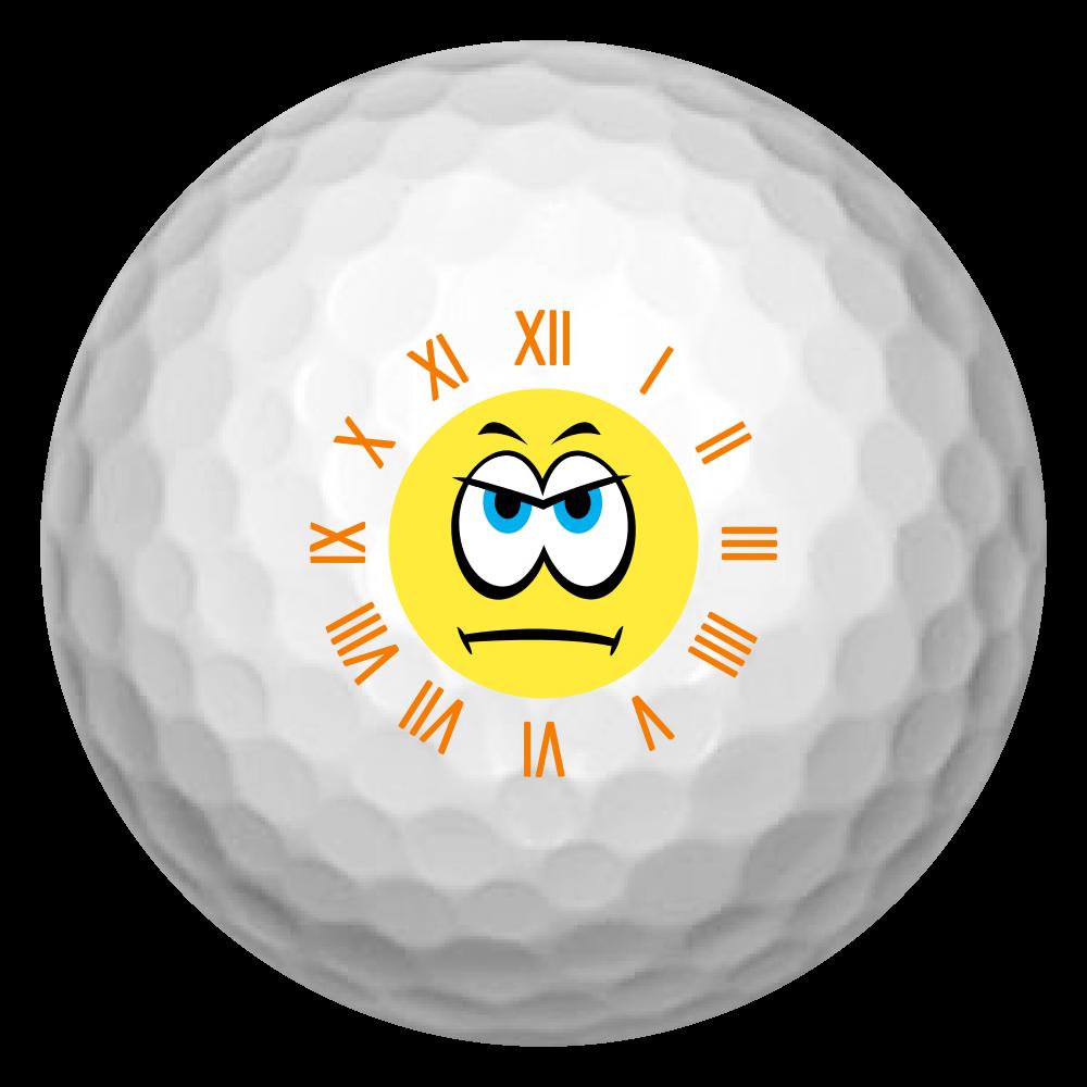 スマイル時計ゴルフボール(怒) ゴルフボール(3個セット)