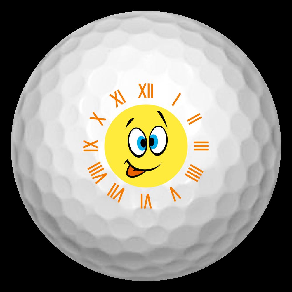 スマイル時計ゴルフボール(笑) ゴルフボール(3個セット)