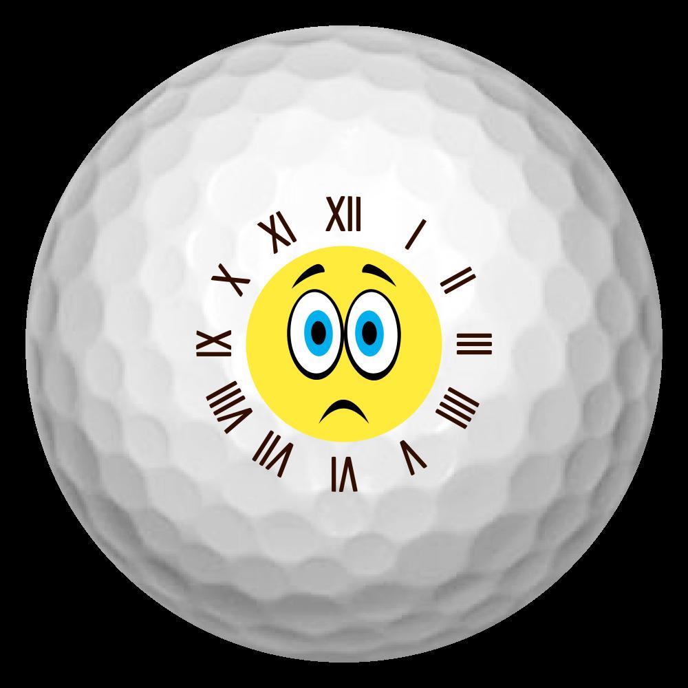 スマイル時計ゴルフボール(悲) ゴルフボール(3個セット)
