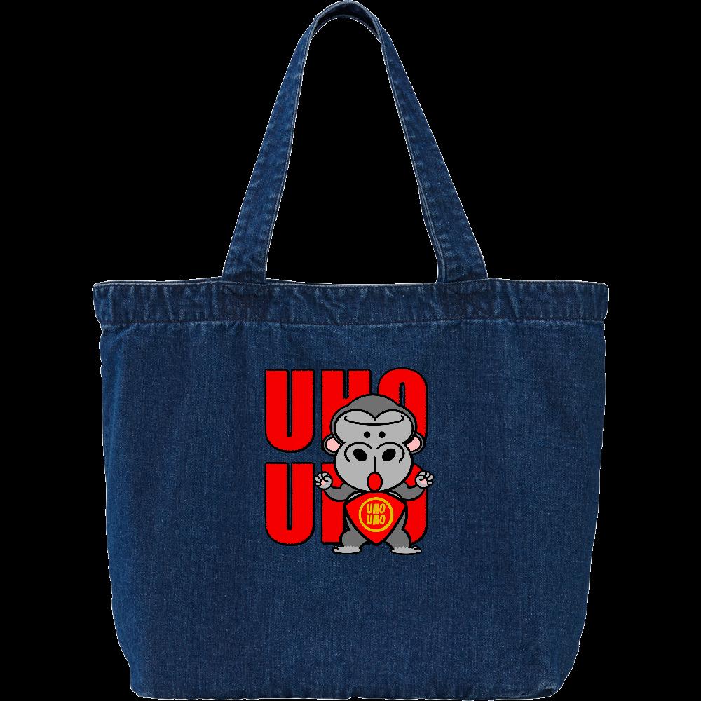 UHOUHOゴリッキー(金太郎バージョン) デニム ラージ トートバッグ