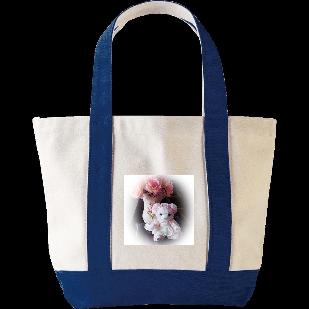 ピンク熊と薔薇のバッグ ミニヘビートートバッグ