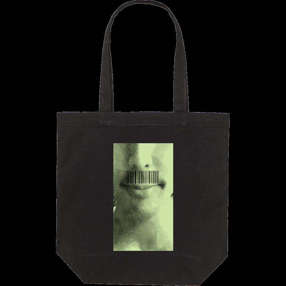 トートバッグ「髭バーコード」 スタンダードキャンバストートバッグ(M)