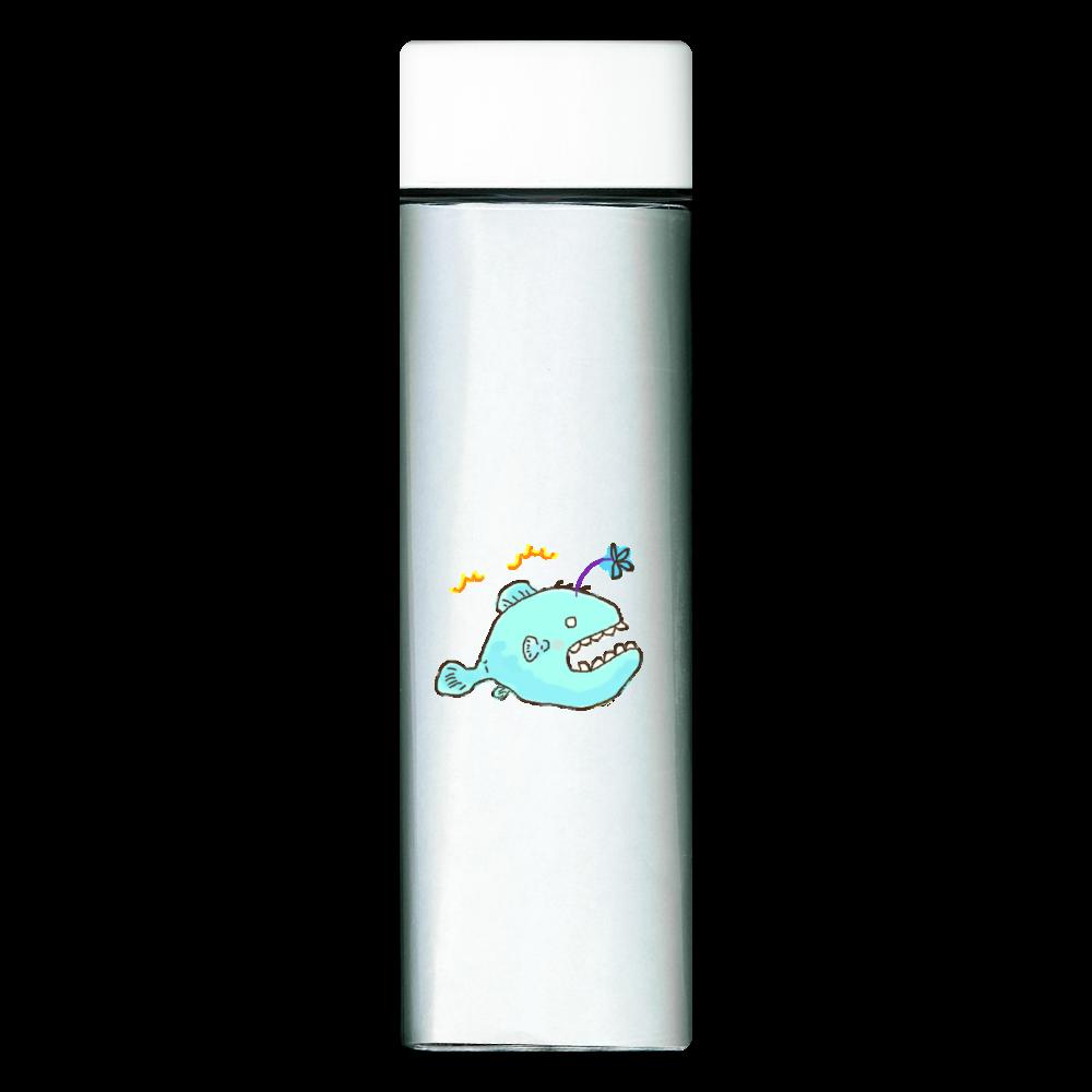 深海魚 固まる 提灯あ~んこう  スクエアクリアボトル