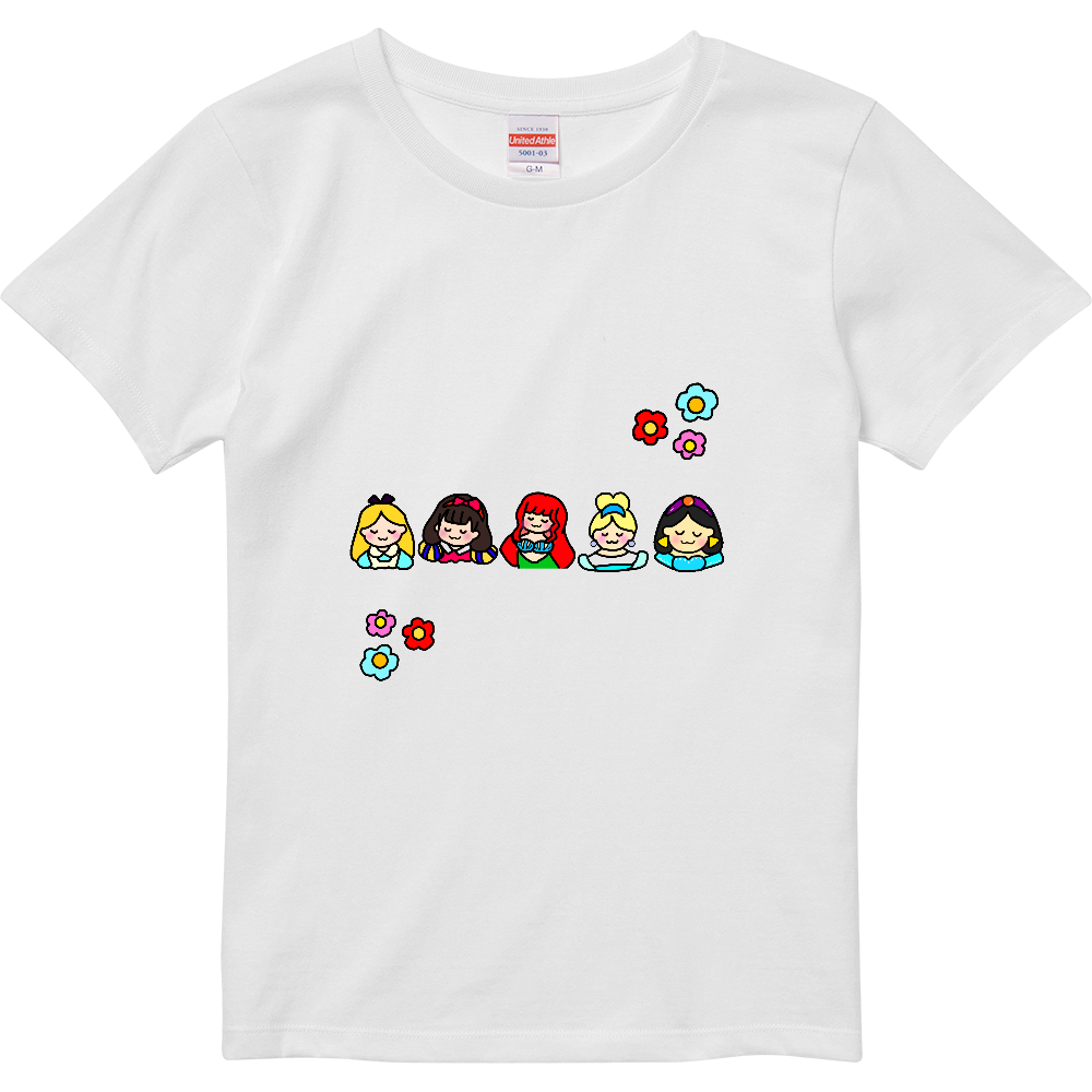 すやすやプリンセスTシャツ ハイクオリティーTシャツ(ガールズ)