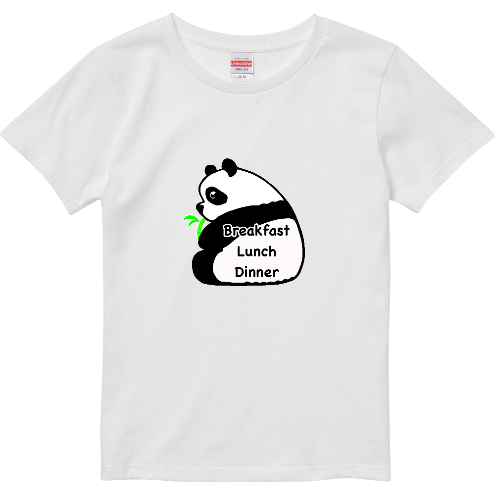 パンダ ハイクオリティーTシャツ(ガールズ)