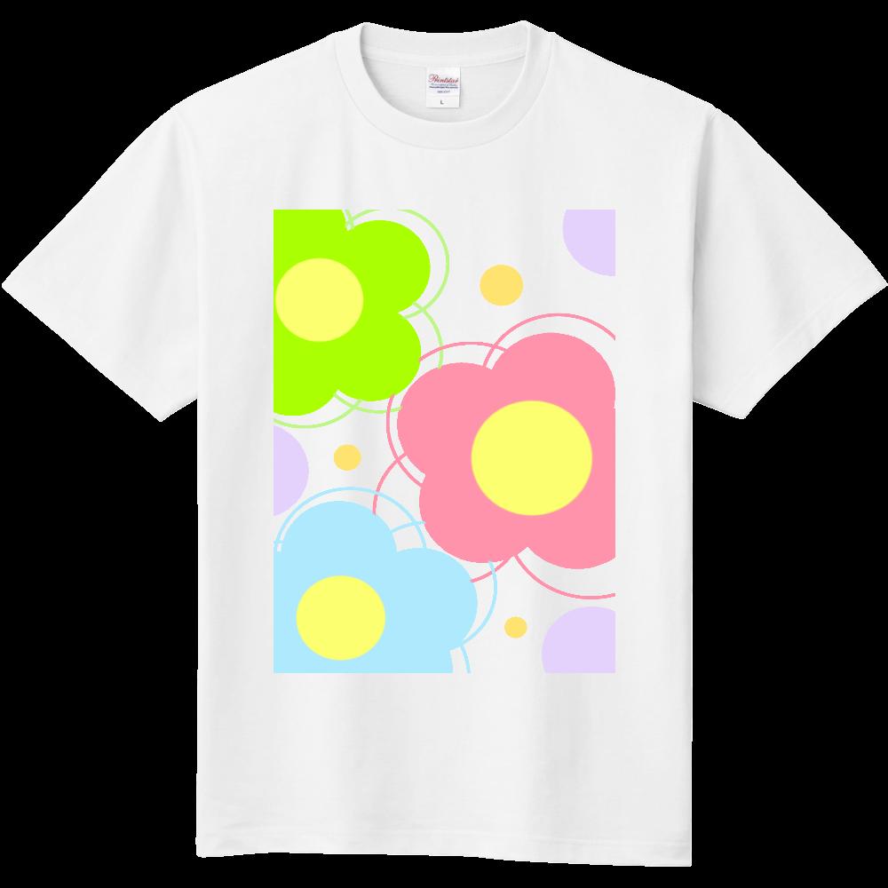 カラフル花柄T 定番Tシャツ