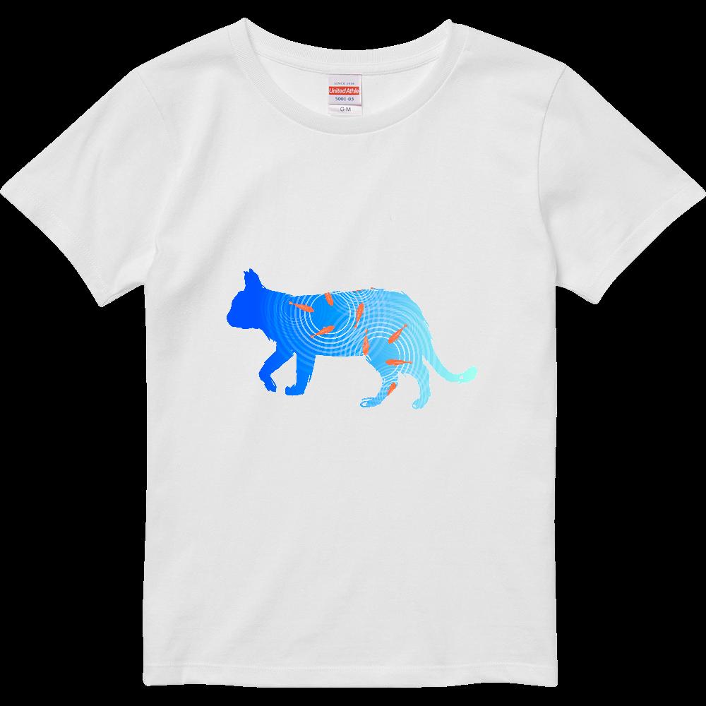 金魚と猫 ハイクオリティーTシャツ(ガールズ)