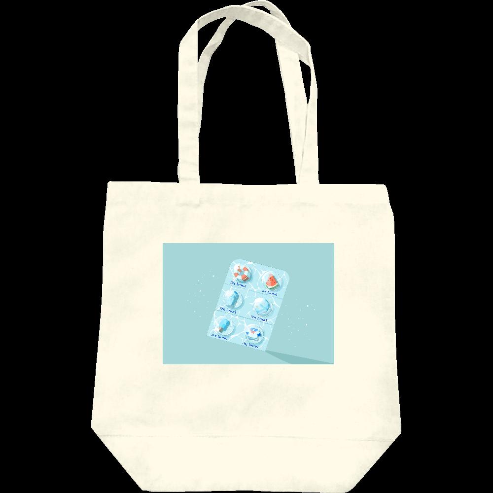 【オリラボマーケット限定】用法、用量を守って夏をお楽しみください。 トートバッグ レギュラーキャンバストートバッグ(M)