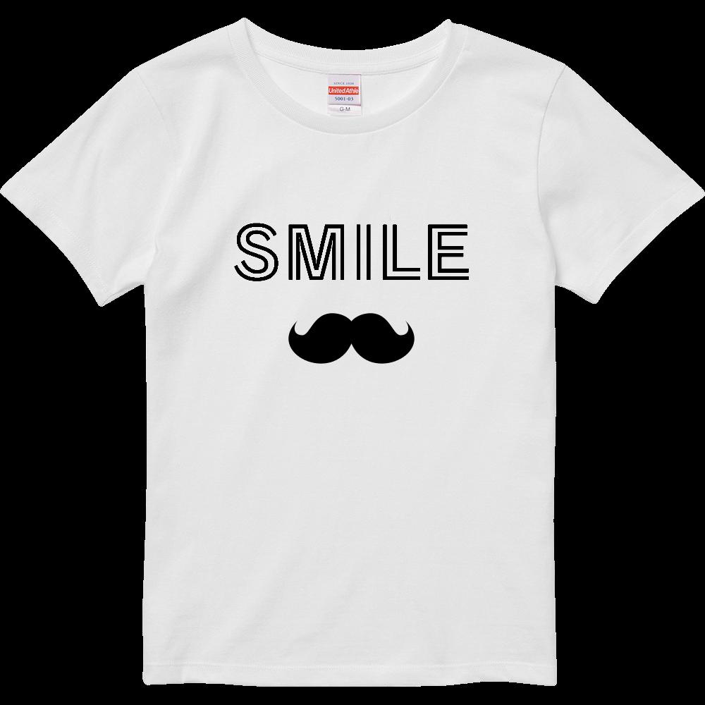 【スマイル】デザインTシャツ ハイクオリティーTシャツ(ガールズ)