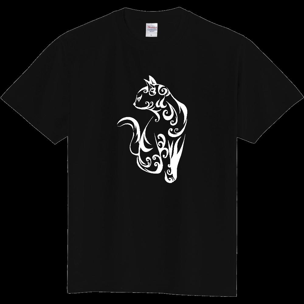 Tribal Cat(白) 定番Tシャツ