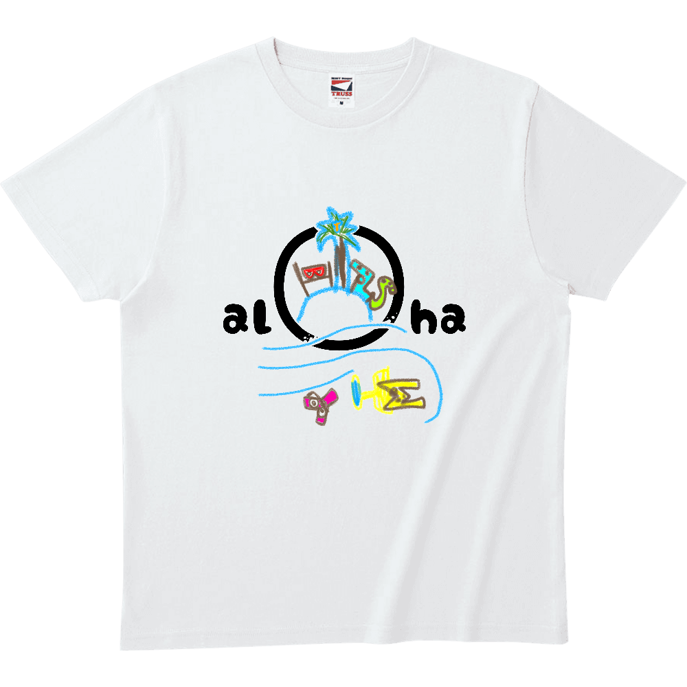 RAKUGAKI ALOHA 南の島 ヘビーウェイトTシャツ