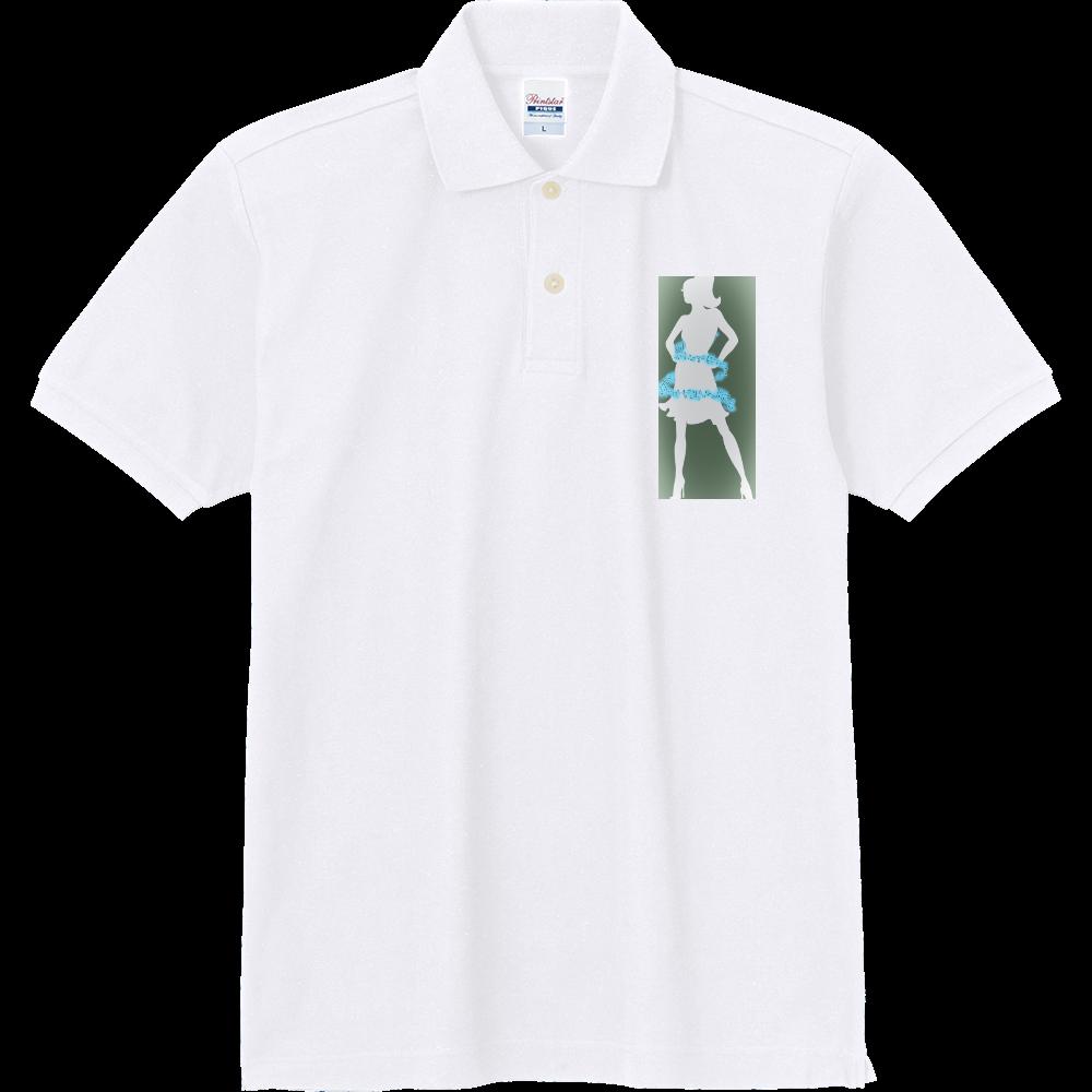 女性( ꈍᴗꈍ)と天使( ꈍᴗꈍ) 定番ポロシャツ